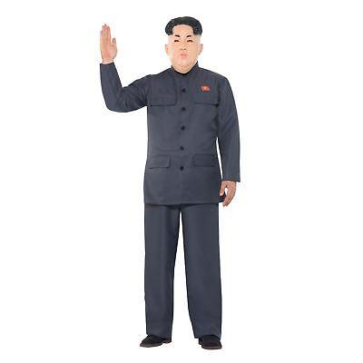 Mens Dictator Politics Party Grey Kim Comedy Halloween Nuke Fancy Dress Costume