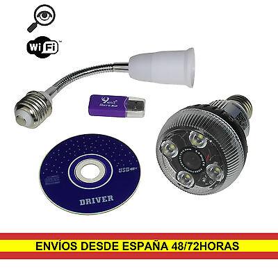 Bombilla LED Espia con Camara Oculta Wifi P2P con Detector Movimiento