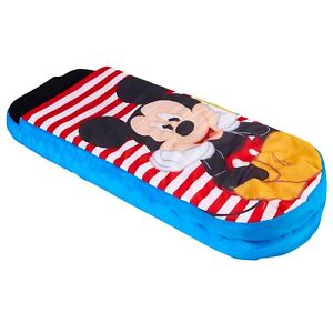 DISNEY MICKEY MOUSE READY BED CHILDRENS - AIR MATTRESS COVER PILLOW PUMP