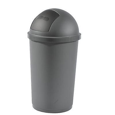 Gies Mülleimer 60 Liter Abfalleimer Abfallbehälter Müllsammler Papierkorb Grau