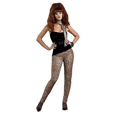 Cheetah Print Costumes (80's Heavy Metal Peggy Bundy CHEETAH Leopard Animal Print Costume Stretch)