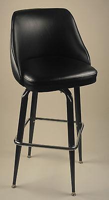 Bucket Seat Oval Metal Bar Stool