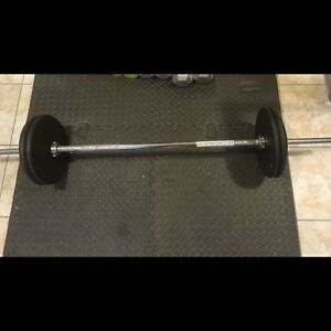 160lb cast iron metal weight set and solid 5 foot bar