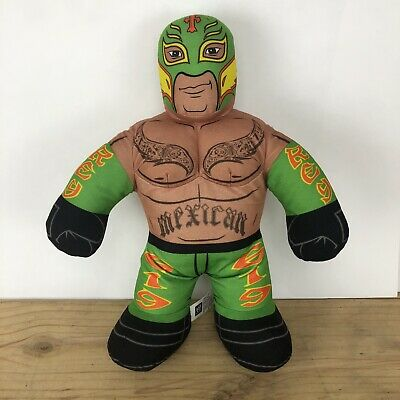 """WWE Wrestling Brawlin Buddies Plush 16"""" Rey Mysterio Mexican Luchador 2011"""