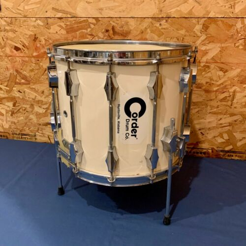 """Vintage Fibes Corder Marching Snare Drum with Legs 12"""" x 14"""" x 12 Lugs"""