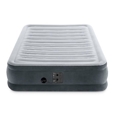 Intex Dura Beam Plus Series Mid Rise Airbed with Built In Electric Pump, Full
