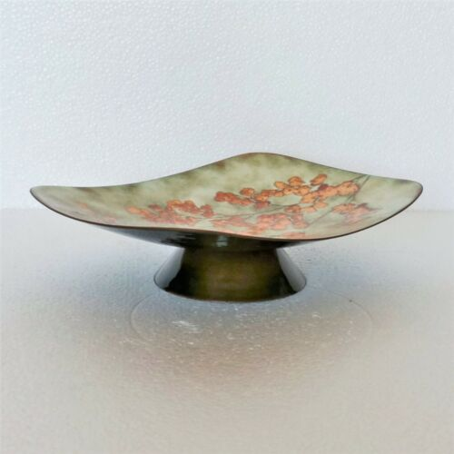 Vintage+Bowl+Dish+Enamel+Art+Botanical+Floral+Custom+Made+Mel+%26+Fran+Harrison