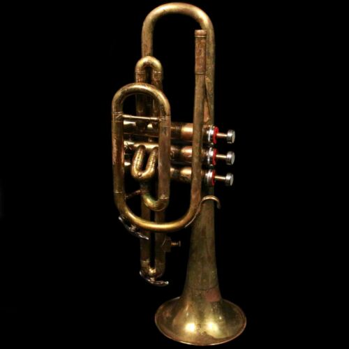 """Vintage Embassy """"78"""" Cornet w/ Mouthpiece & Case ; Made in England"""