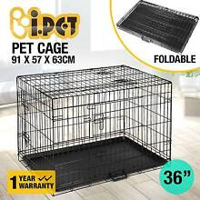"""36"""" Dog Cage Pet Crate Puppy Cat Foldable Metal Kennel Portable Perth CBD Perth City Preview"""