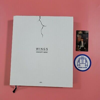 BTS Wings Concept Book JUNGKOOK JK Lenticular Card 2 Photo Frame Paper OOP rare