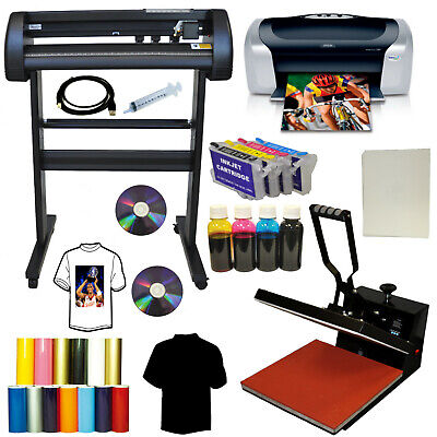 15x15 Heat Press 28 Laser Metal Vinyl Cutter Plotter Printer Refil Kit T-shirts