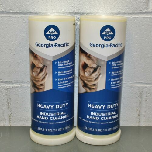 (2) Georgia-Pacific Heavy Duty Industrial Hand Cleaner 44627, 3L, Citrus, Soap