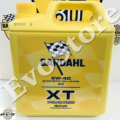 5 LT Bardahl 5W40 C3 XT Olio Motore Auto Sintetico Polarplus VW 505 00 505 01