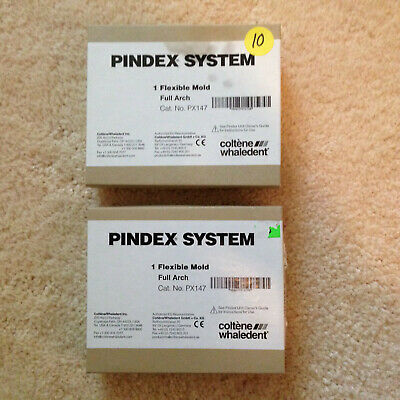 Pindex System Flexible Mold Full Arch Set Of 2 Coltene Whaledent Dental Lab