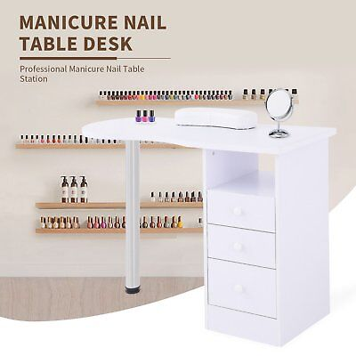 Manicure Nail Table Station Desk Spa Beauty Salon Beauty Equipment with Drawers for sale  Chino