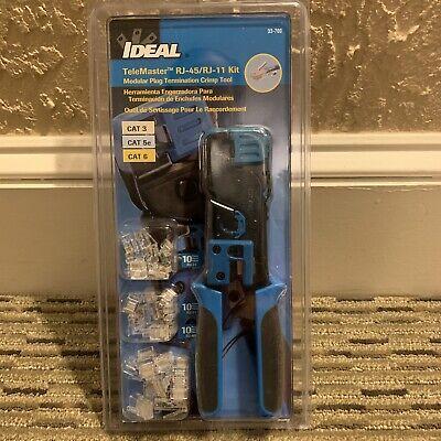 Ideal Telemaster Modular Plug Termination Crimp Tool Kit. D2