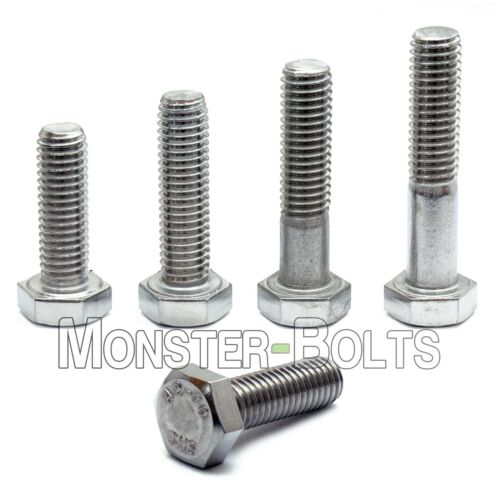 M8 Hex Cap Bolts / Screws, A2 Stainless Steel, 1.25 Coarse DIN 933 931 Tap 18-8