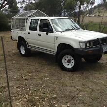1996 Toyota Hilux Dual cab ute stock crate and canopy 2.8l diesal Sorell Sorell Area Preview