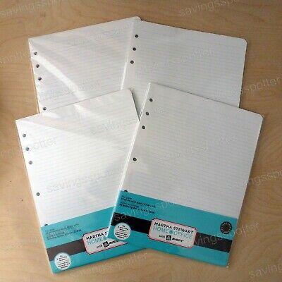 Martha Stewart Office Avery Filler Paper 8.5 X 11 Binder 7 Hole 200 Sheets