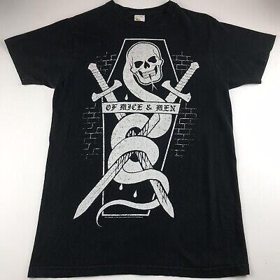 Of Mice and Men Band T Shirt Mens Size Medium Black Skull Snake Swords