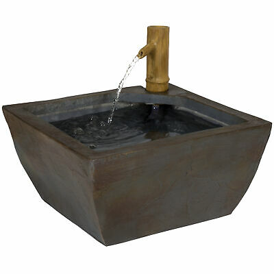 BCP 16in Indoor/Outdoor Bamboo Spout Water Fountain Decor w/ Pump
