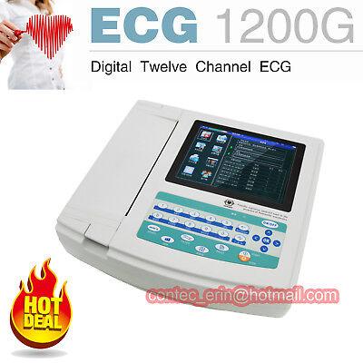 Contec 12 Channel Ecg Machine Ekg Electrocardiograph Cardiogram Software Usa