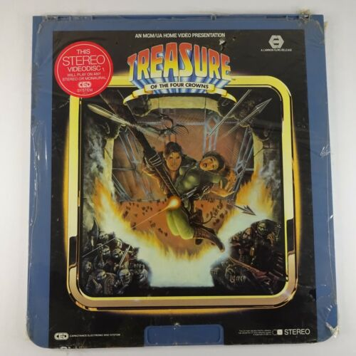 Treasure of the Four Crown CED Videodisc 1983 MGM SEALED