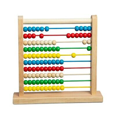 Melissa & Doug Abacus NEW Classic Wooden Educational Counting Toy With 100 Beads