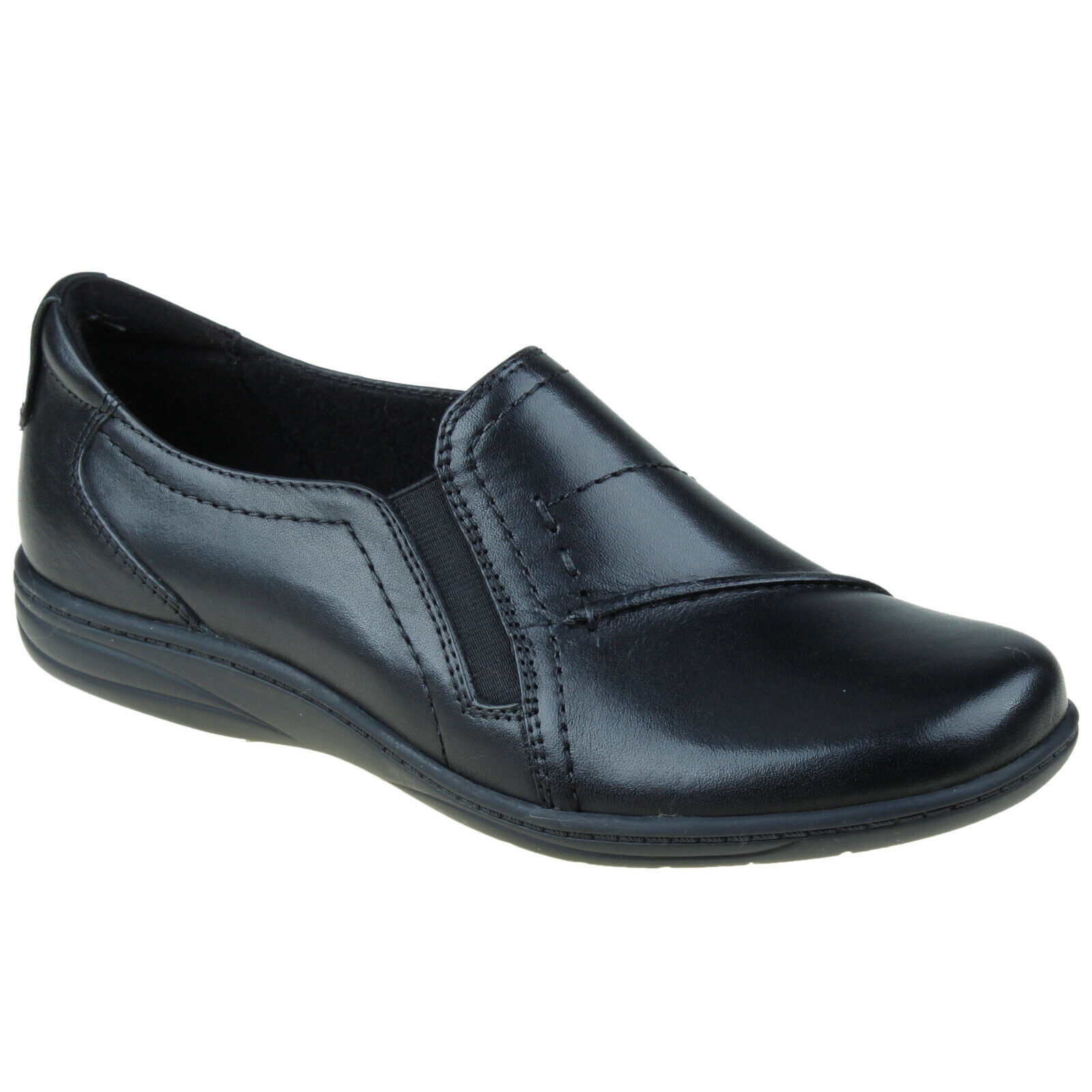 Planet Shoes Jemim Black Leather Comfort & Support Casual Wo