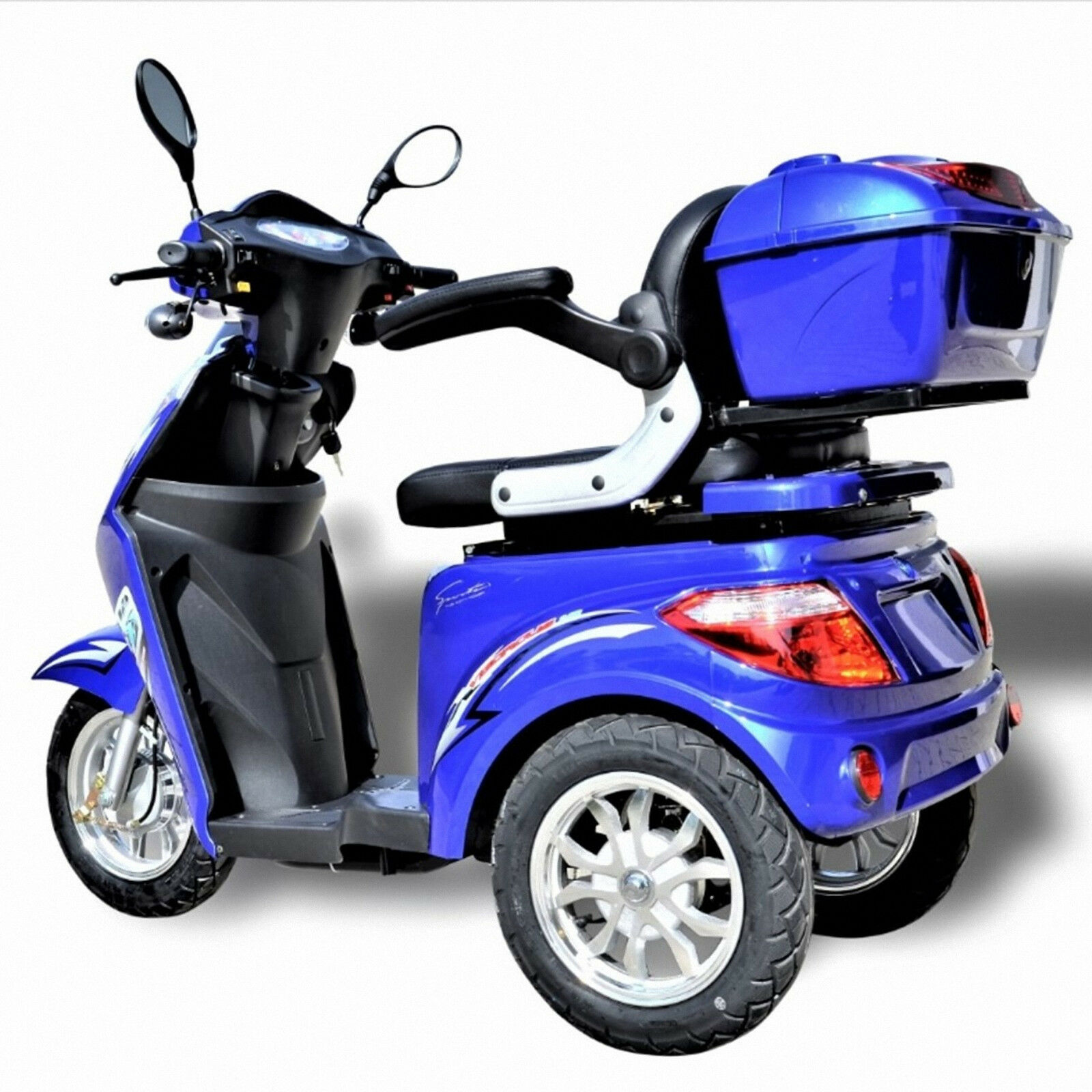 dreirad scooter seniorenmobil eco engel 501 1000 watt elektro mobil blau met eur. Black Bedroom Furniture Sets. Home Design Ideas