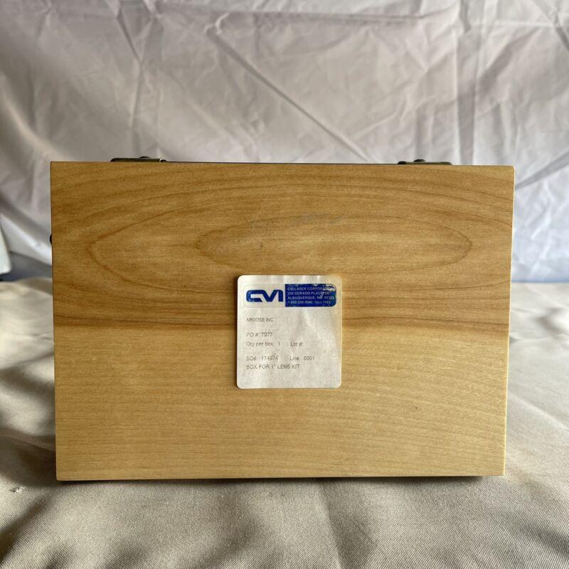 "CVI Optics (Melles Griot) Precision Singlet 1"" UV Lens Kit w/ Case"