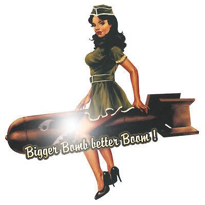OEM JDM Stickerbombing Pin Up Tattoo Bigger Bomb better Boom Aufkleber Sticker