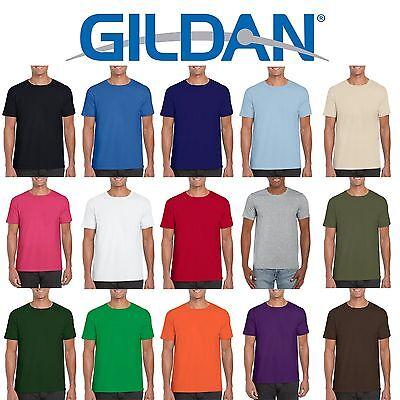 6 Pack Gildan Softstyle Cotton Plain Mens Womens T Shirts Wholesale Cheap Bulk