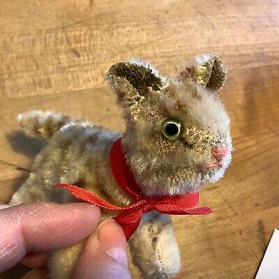 Vintage Antique Miniature German Steiff TLC TAPSY CAT Kitten Mohair Glass Eyes