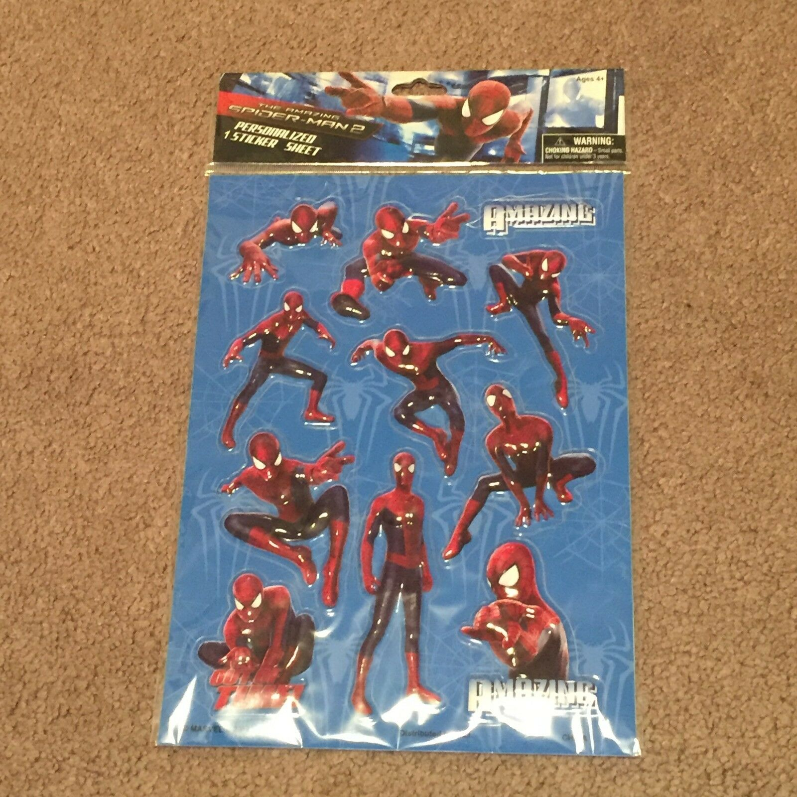 Marvel The Amazing Spider-Man 2 Stickers (Toys, Collectibles, 2014) Brand New