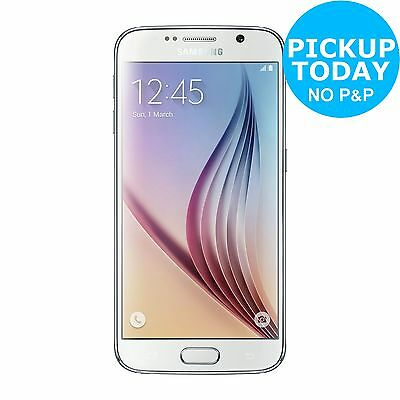 Sim Free Samsung Galaxy S6 5.1 Inch Full HD 16MP 32GB Smart Mobile Phone - White