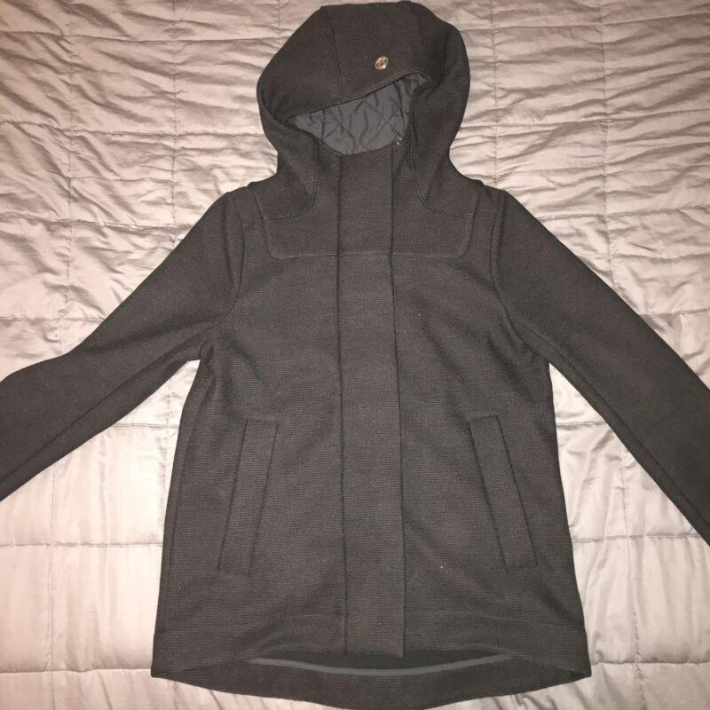 Lululemon Black Hooded Jacket Best Fit Size M 6/8 (no Tag) Measurements In Pics