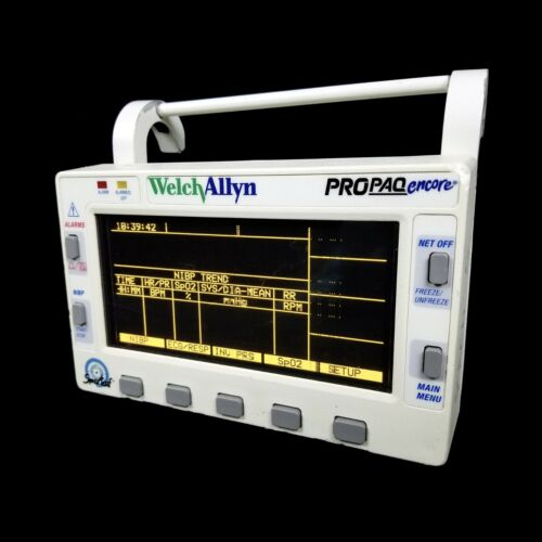 Welch Allyn Propaq Encore 206 EL Patient Vital Signs Monitor #1