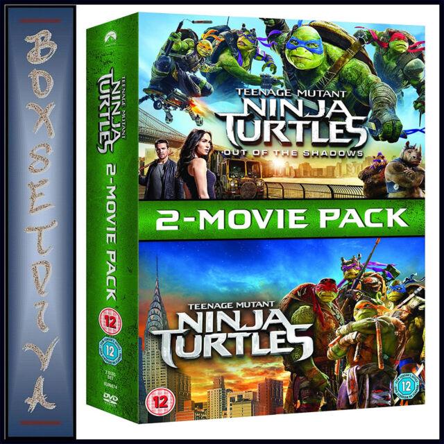 TEENAGE MUTANT NINJA TURTLES & OUT OF THE SHADOWS - 2 MOVIES**BRAND NEW DVD**