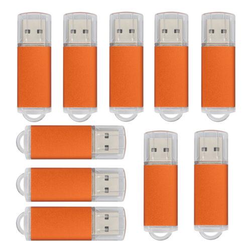 Bulk 10 1GB Rectangle Shape USB Flash Drive Thumb Drive Memory Stick Storage