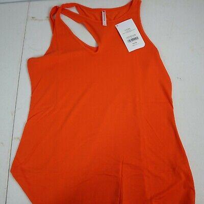 FABLETICS    Size L / 10-1   ORANGE Jersey Knit CLEOPATRA TANK  Fitted - Keyhole