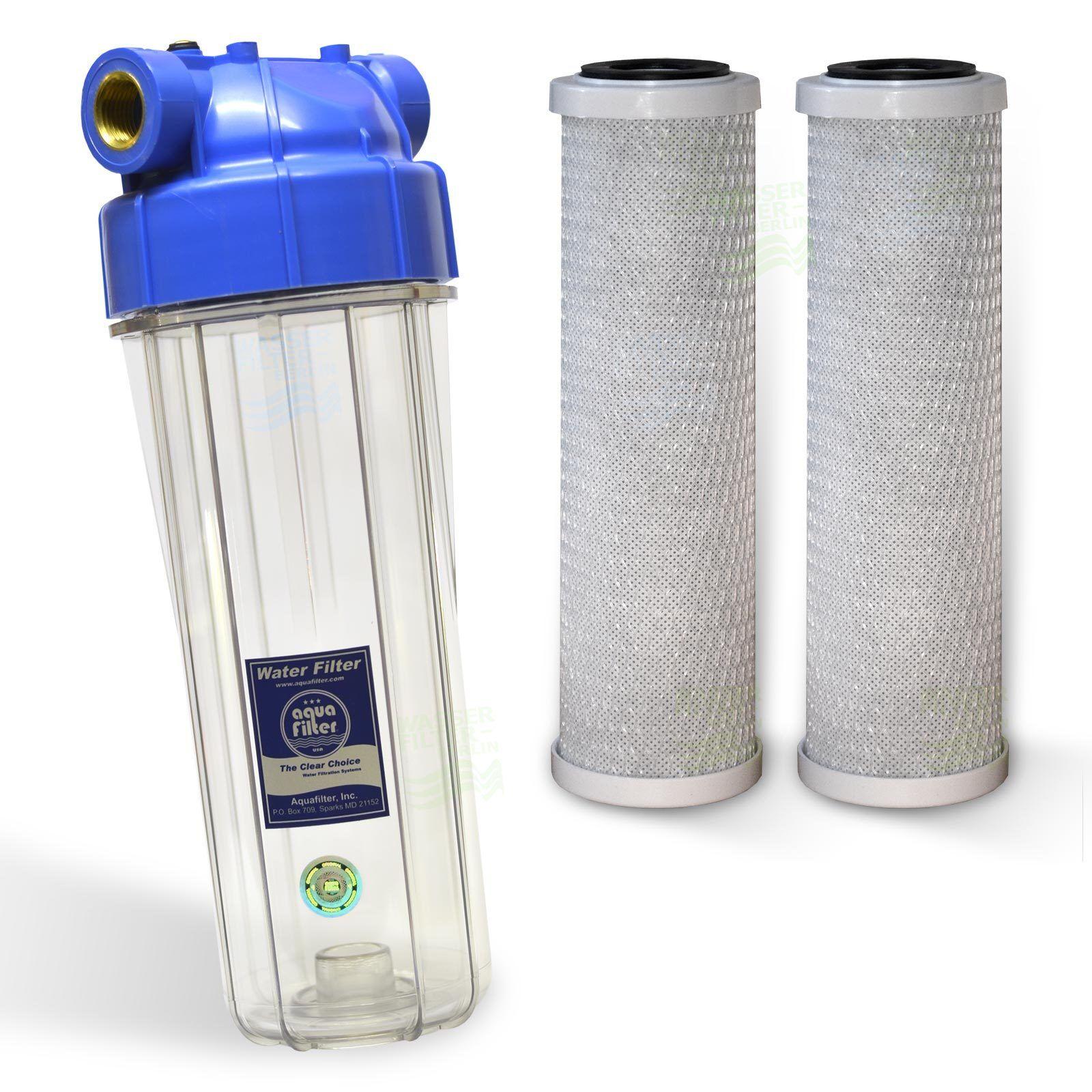 """Filtergehäuse 10/"""" x 1//2 Keramikfilter Vor Filter Wasser Hauswasserwerk Brunnen"""