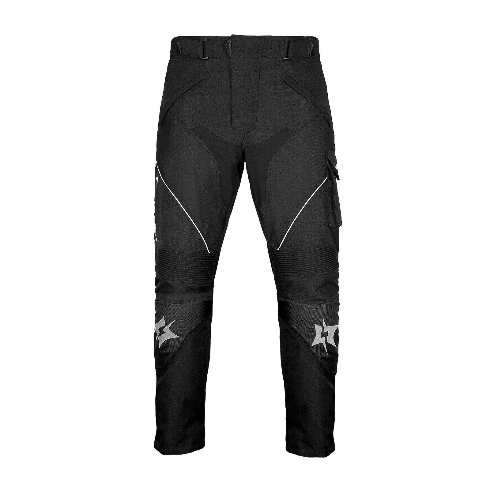 Motorradhose Textilhose schwarz Protektoren/Taschen Gr. S - 2XL