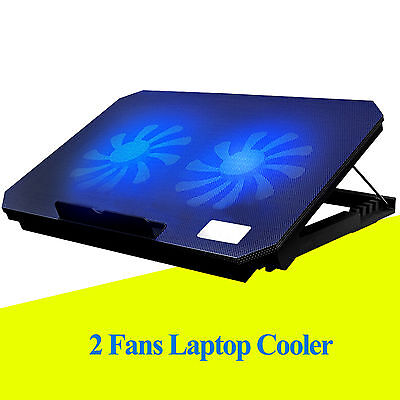 "Ares N4 2 Fans Notebook USB port Cooling Pad Cooler Mat F 11""  13"" 15.4"" Laptop"
