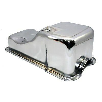 - Front Sump Chrome Steel Oil Pan – 63-96 SBF Small Block Ford 260 289 302 5.0