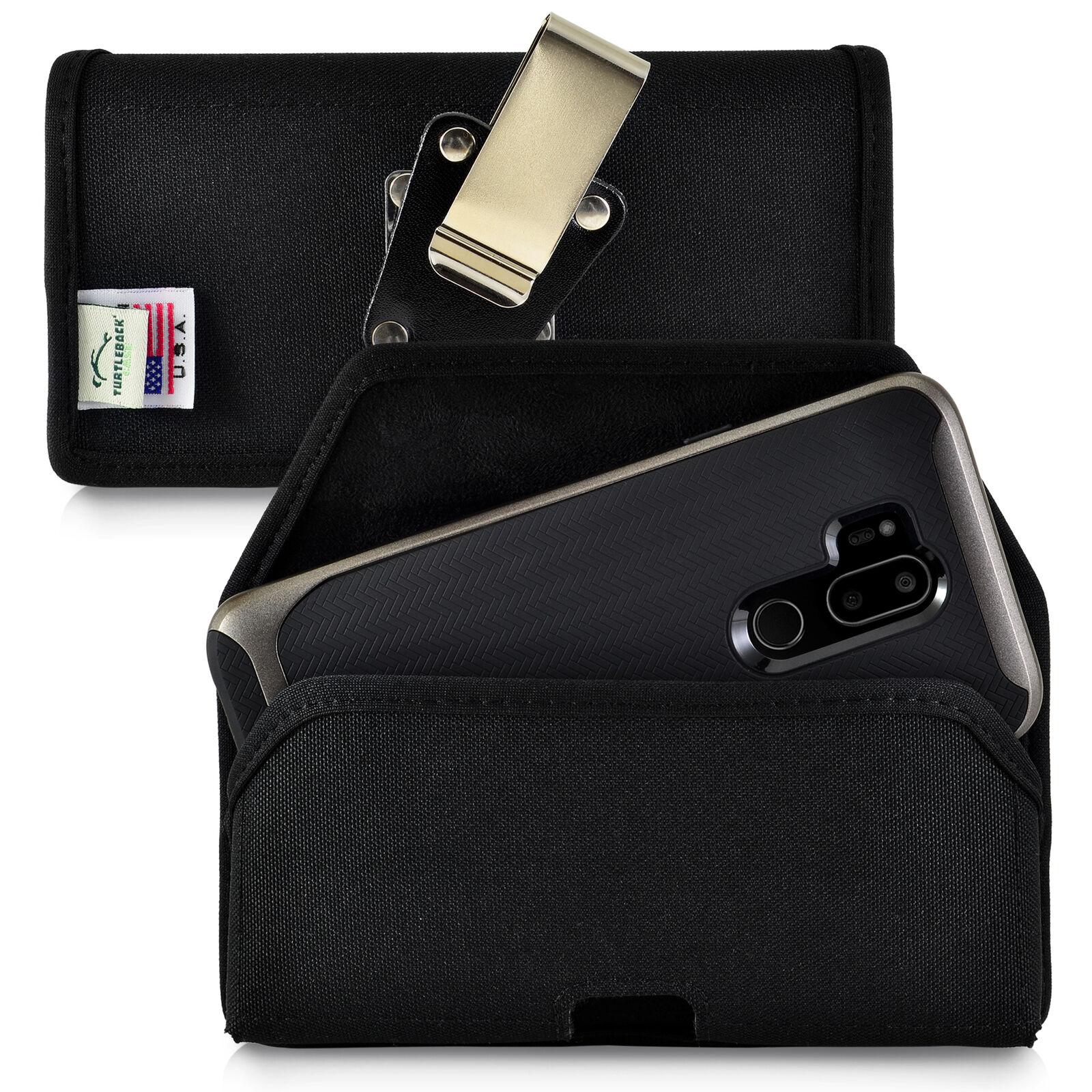 lg-g7-black-belt-case-with-rotating-belt-clip-duty-black-nylon-horizontal-pouch