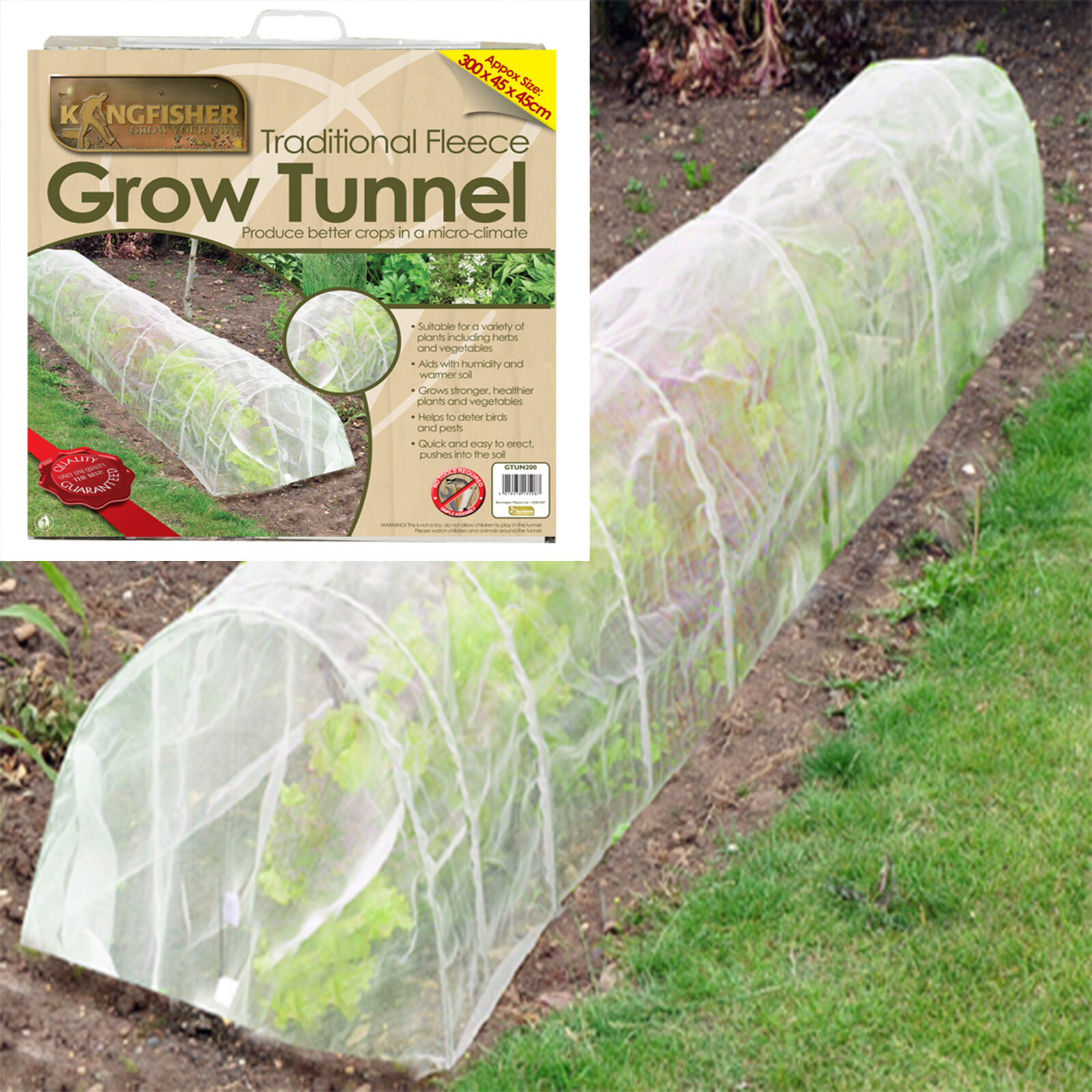 3m Plant Protector Polythene Netting Fleece Garden Tunnel
