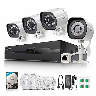Zmodo1080P HD IP Network 4CH NVR sPoE IR Security Surveillance Camera System 2TB