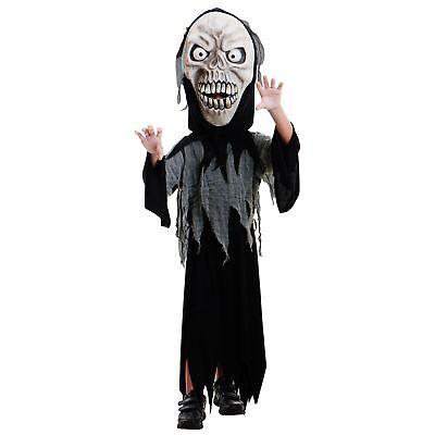 Kinder Jungen Fright Ghul Ghost Demon Sensenmann Death Skelett Halloween (Junge Ghost Kostüme)