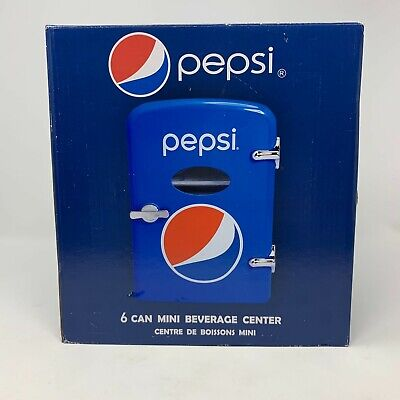 Pepsi 6 Can Mini Refrigerator Fridge Beverage Center Car Adapter New in Box